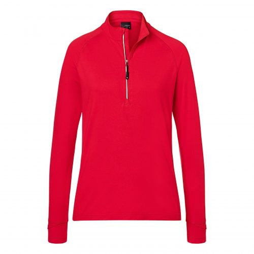 Ladies' Sports Shirt Half-Zip